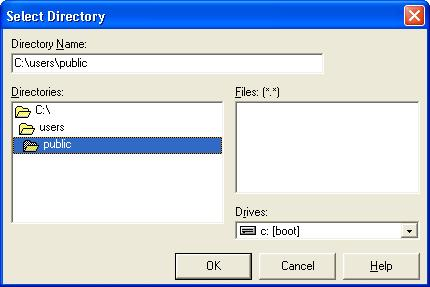 Select directory 2